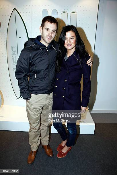 Mike Skinner and wife Claire Le Marquand visit the Lacoste Lounge during the ATP World Finals sponsored by Lacoste at O2 Arena on November 27 2011 in...