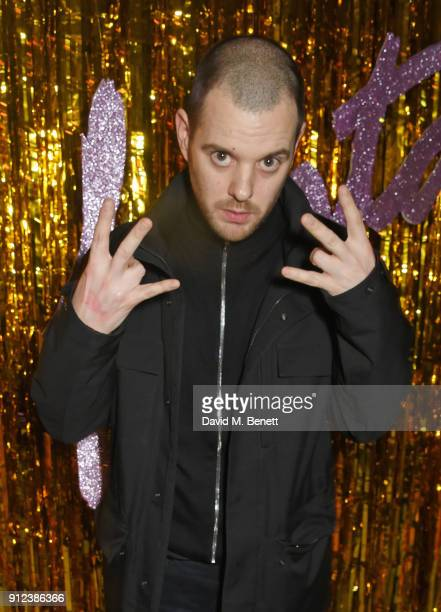 Mike Skinner attends the ALEXACHUNG Fantastic collection party on January 30 2018 in London England
