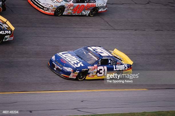 Mike Skinner drives his car during practice for the Daytona 500 at the Daytona International Speedway on February 17 2001 in Daytona Beach Florida