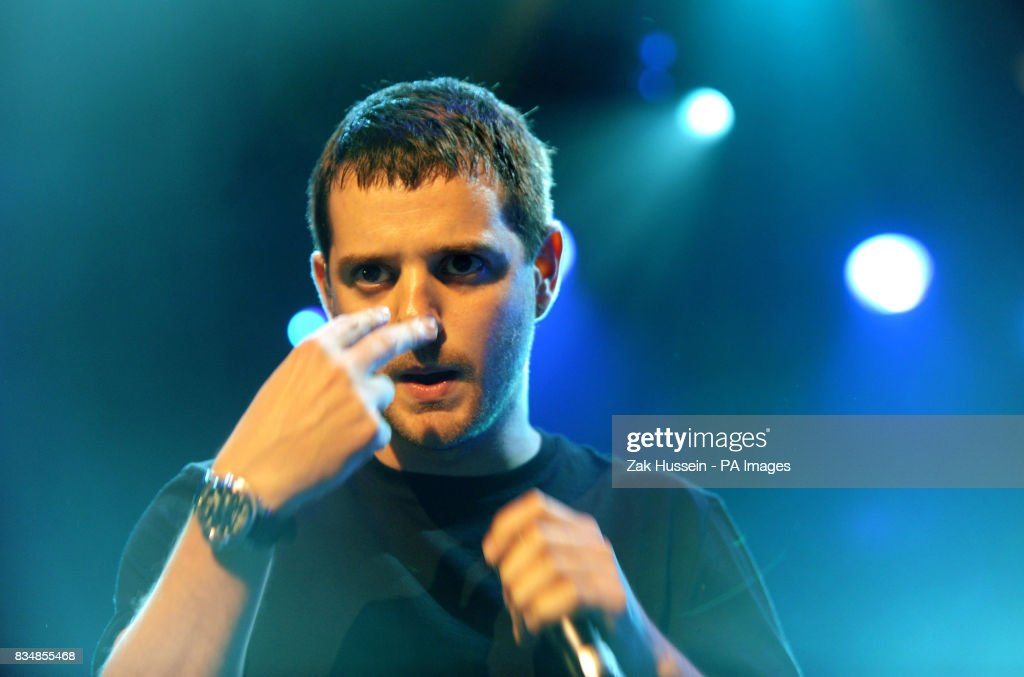 Mike Skinner of the Streets performs during the BBC Electric Proms 2008 at the Roundhouse in Camden Town, north London.