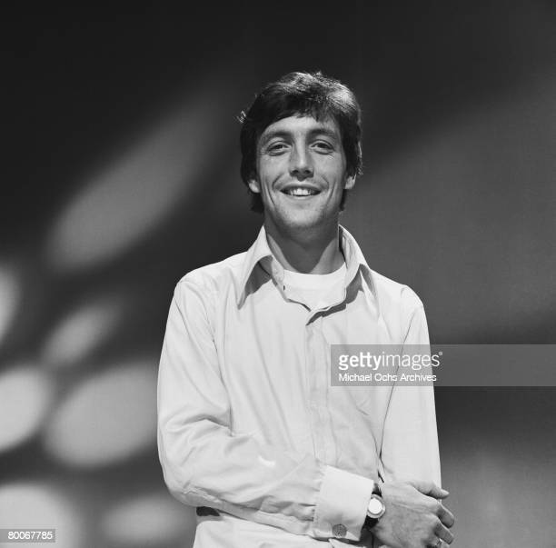 Mike Smith lead singer and keyboard player for The Dave Clark Five rehearses for an appearance on the TV show Shindig circa 1965 in Los Angeles...