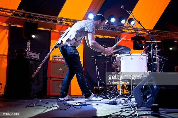 Mike Smith of Polarsets performs on stage during day one of YNot Festival 2011 on August 5 2011 in Matlock United Kingdom