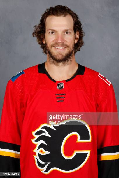 Mike Smith of the Calgary Flames poses for his official headshot for the 20172018 season on September 14 2017 at the WinSport Winter Sport Institute...