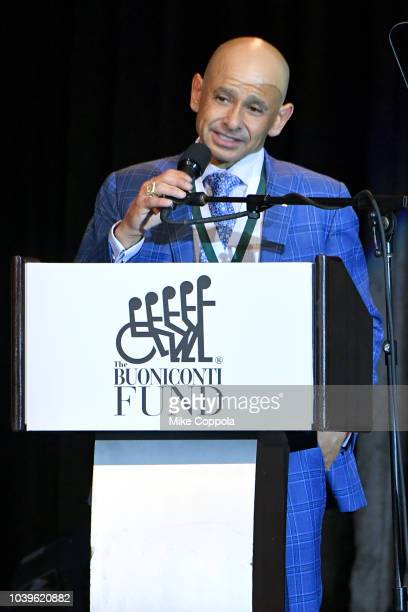 Mike Smith speaks during the 33rd Annual Great Sports Legends Dinner which raised millions of dollars for the Buoniconti Fund to Cure Paralysis at...
