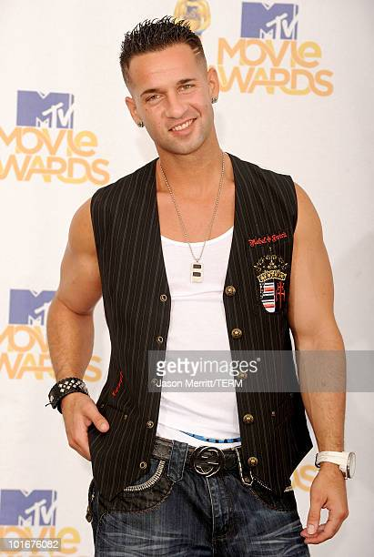 Mike Sorrentino aka The Situation poses in the press room at the 2010 MTV Movie Awards held at the Gibson Amphitheatre at Universal Studios on June...