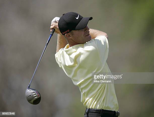 Mike Sposa on the 4th hole during the 1st round of the Chitimacha Open being held at Le Triomphe Golf Club in Broussard Louisiana on March 24 2005
