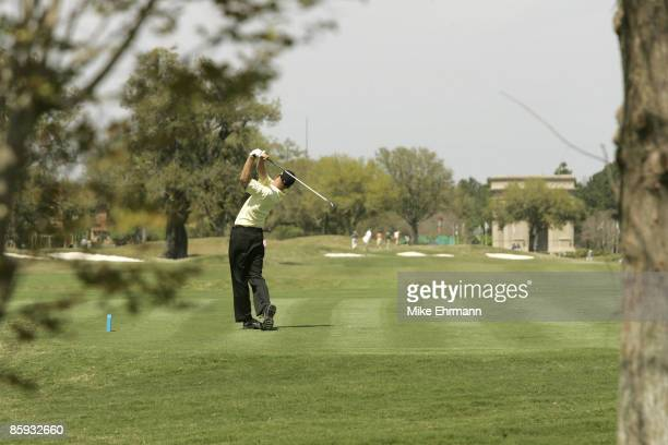 Mike Sposa on the 7th hole during the 1st round of the Chitimacha Open being held at Le Triomphe Golf Club in Broussard Louisiana on March 24 2005