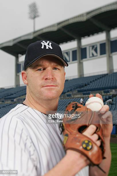 Mike Stanton of the New York Yankees poses for a portrait during Yankees Photo Day at Legends Field on February 25 2005 in Tampa Florida