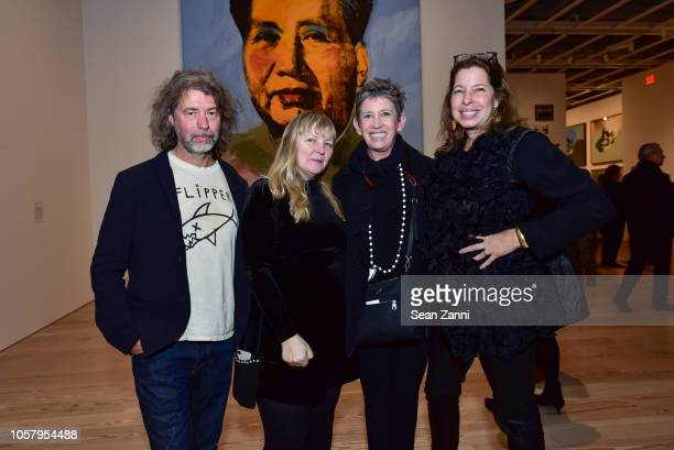 Mike Starn Chrissie Iles Beth DeWoody and Anne Pasternak attend an exhibition preview and dinner for Andy Warhol From A To B and Back Again hosted by...