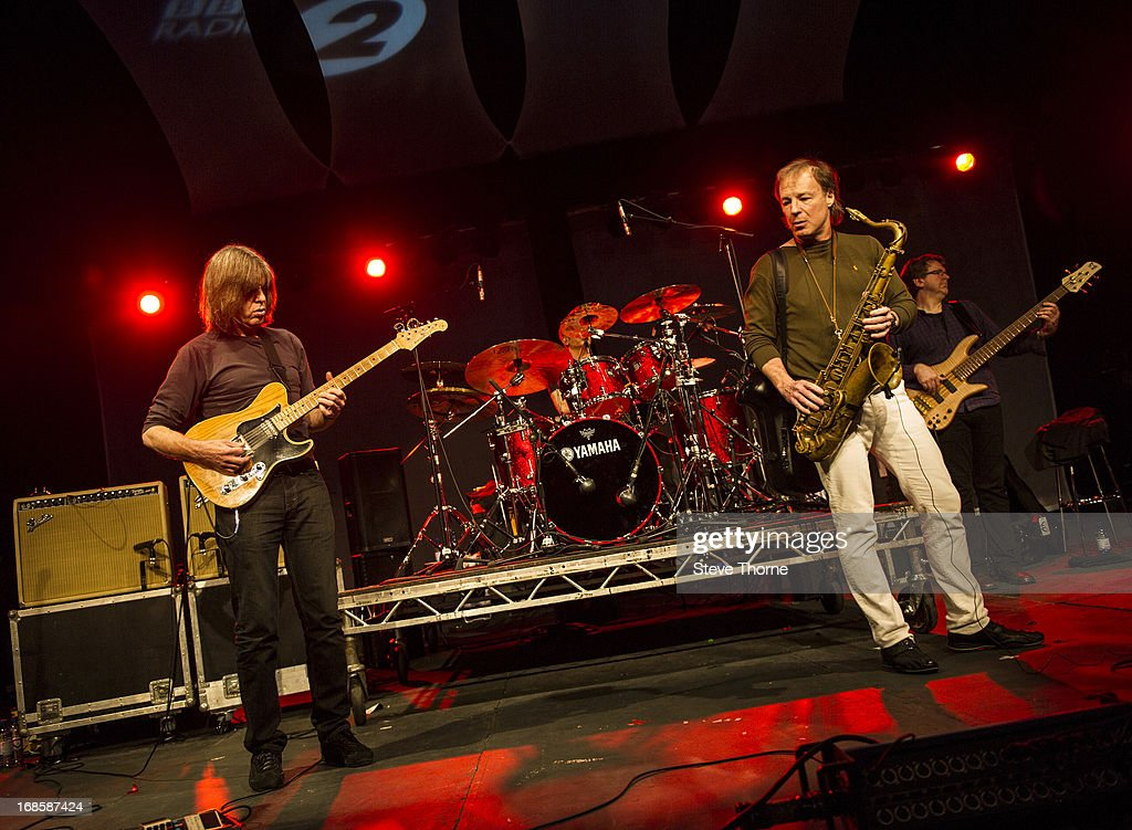 Mike Stern, Dave Weckl, Bill Evans and Tom Kennedy perform on stage on Day 5 of Cheltenham Jazz Festival on May 5, 2013 in Cheltenham, England.