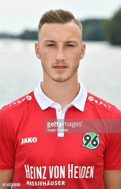 Mike Steven Baehre of Hannover 96 poses during the team presentation at on July 14 2017 in Hanover Germany
