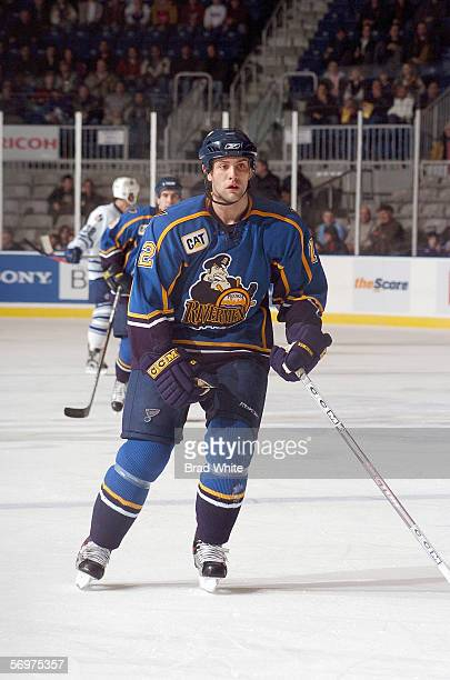 Mike Stuart of the Peoria Rivermen skates against the Toronto Marlies at Ricoh Coliseum on February 3 2006 in Toronto Ontario Canada The Rivermen won...