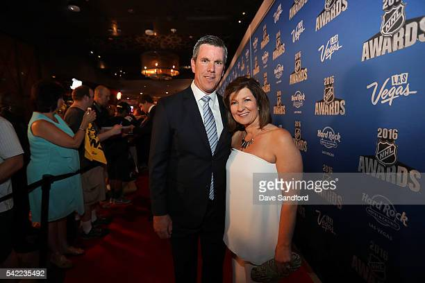 Mike Sullivan of the Pittsburgh Penguins and guest attend the 2016 NHL Awards at the Hard Rock Hotel Casino on June 22 2016 in Las Vegas Nevada