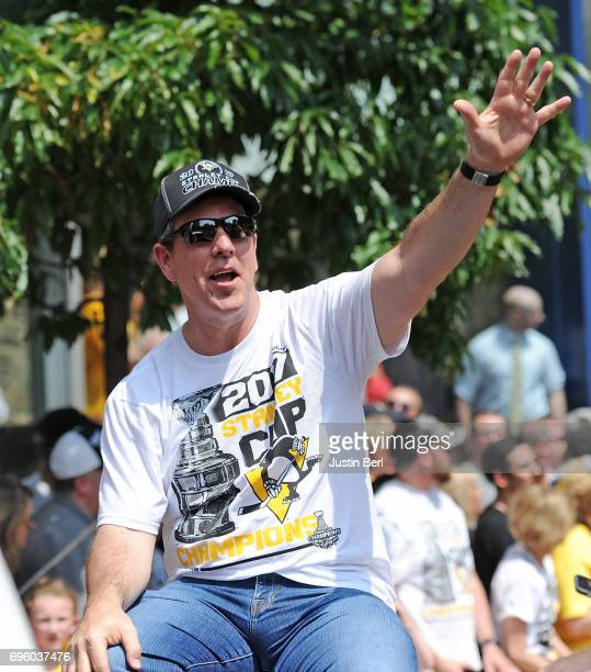 Mike Sullivan of the Pittsburgh Penguins during the Victory Parade and Rally on June 14 2017 in Pittsburgh Pennsylvania