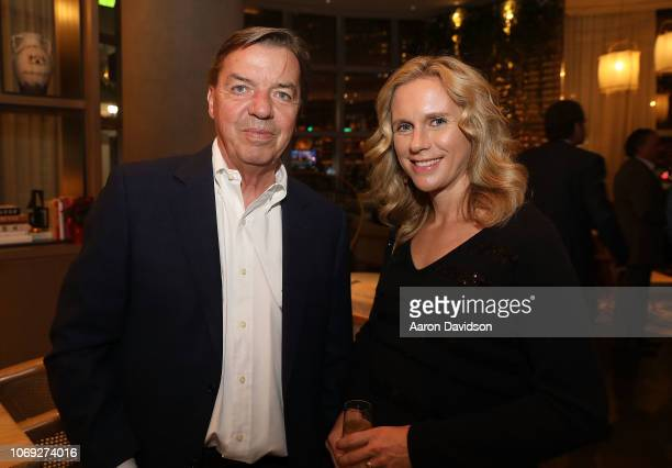 Mike Tansey and Jen Tansey attend Art Miami 2018 Lifetime Visionary Award Dinner Honoring Dennis Debra Scholl at Boulud Sud Miami on December 6 2018...