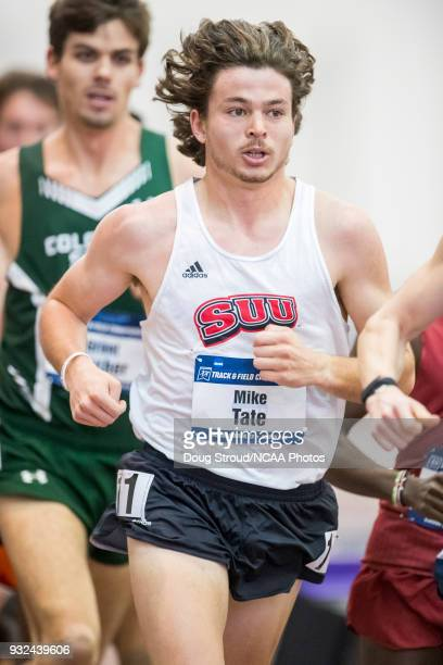 Mike Tate of Southern Utah State University competes in the Mens 5000 Meter Run during the Division I Men's and Women's Indoor Track Field...