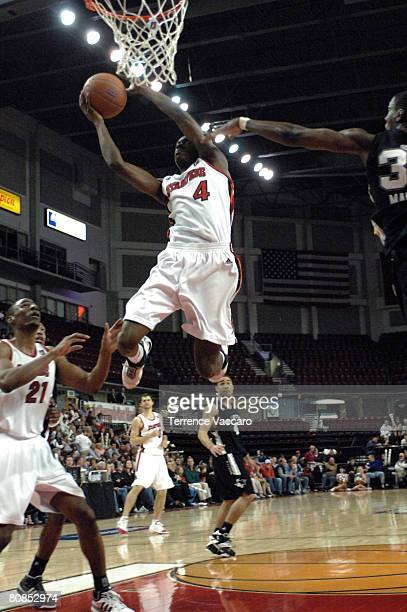 Mike Taylor of the Idaho Stampede goes to the basket against the Austin Toros during Game Two of the DLeague Finals on April 24 2008 at the Qwest...