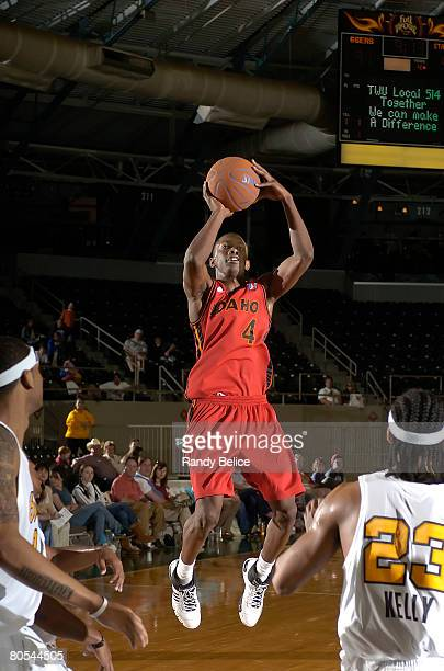 Mike Taylor of the Idaho Stampede puts up a shot during the NBA DLeague game against the Tulsa 66ers at the Expo Square Pavilion April 6 2008 in...