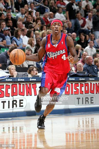 Mike Taylor of the Los Angeles Clippers moves the ball up court during the game against the Utah Jazz at the EnergySolutions Arena on November 1 2008...