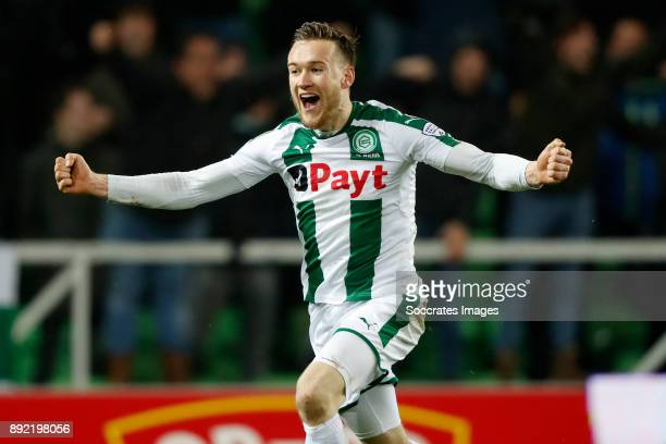 Mike te Wierik of FC Groningen during the Dutch Eredivisie match between FC Groningen v PSV at the NoordLease Stadium on December 13 2017 in...