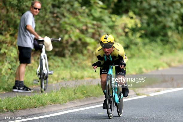 Mike Teunissen of The Netherlands and Team Jumbo _ Visma Cycling / during the 16th Tour of Britain 2019, Stage 6 a 14,4km stage from Pershore to...