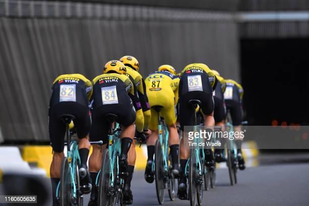 Mike Teunissen of The Netherlands and Team Jumbo-Visma Yellow Leader Jersey / Steven Kruijswijk of The Netherlands and Team Jumbo-Visma / George...