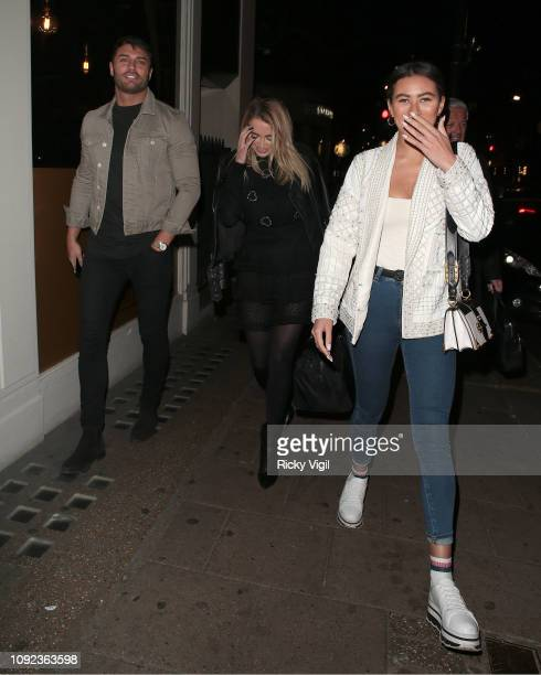Mike Thalassitis and Montana Brown seen on a night out at Sexy Fish on January 10 2019 in London England