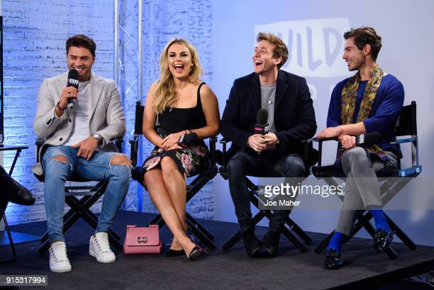 Mike Thalassitis Tallia Storm Sam Thompson and Tom Read Wilson from 'Celebs Go Dating' during a BUILD panel discussion on February 7 2018 in London...