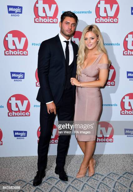 Mike Thalassitus and Danielle Sellers attending the TV Choice Awards 2017 held at The Dorchester Hotel London PRESS ASSOCIATION Photo Picture date...