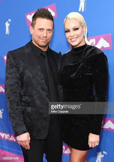 Mike The Miz Mizanin and Maryse Ouellet attend the 2018 MTV Video Music Awards at Radio City Music Hall on August 20 2018 in New York City