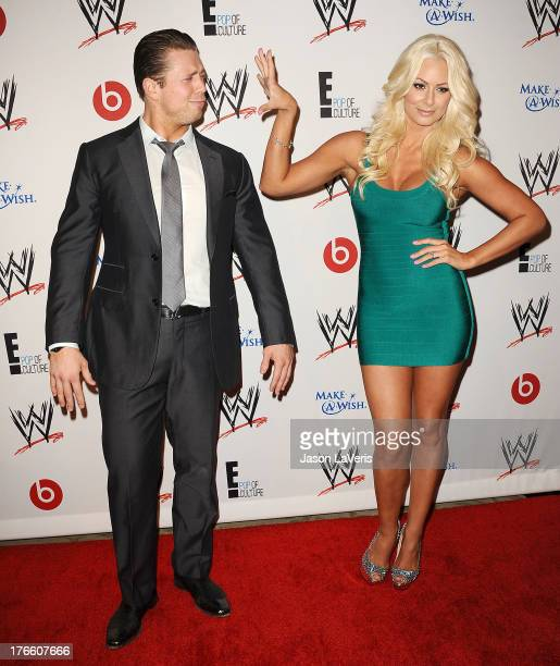 Mike 'The Miz' Mizanin and Maryse Ouellet attend the WWE SummerSlam VIP party at Beverly Hills Hotel on August 15 2013 in Beverly Hills California