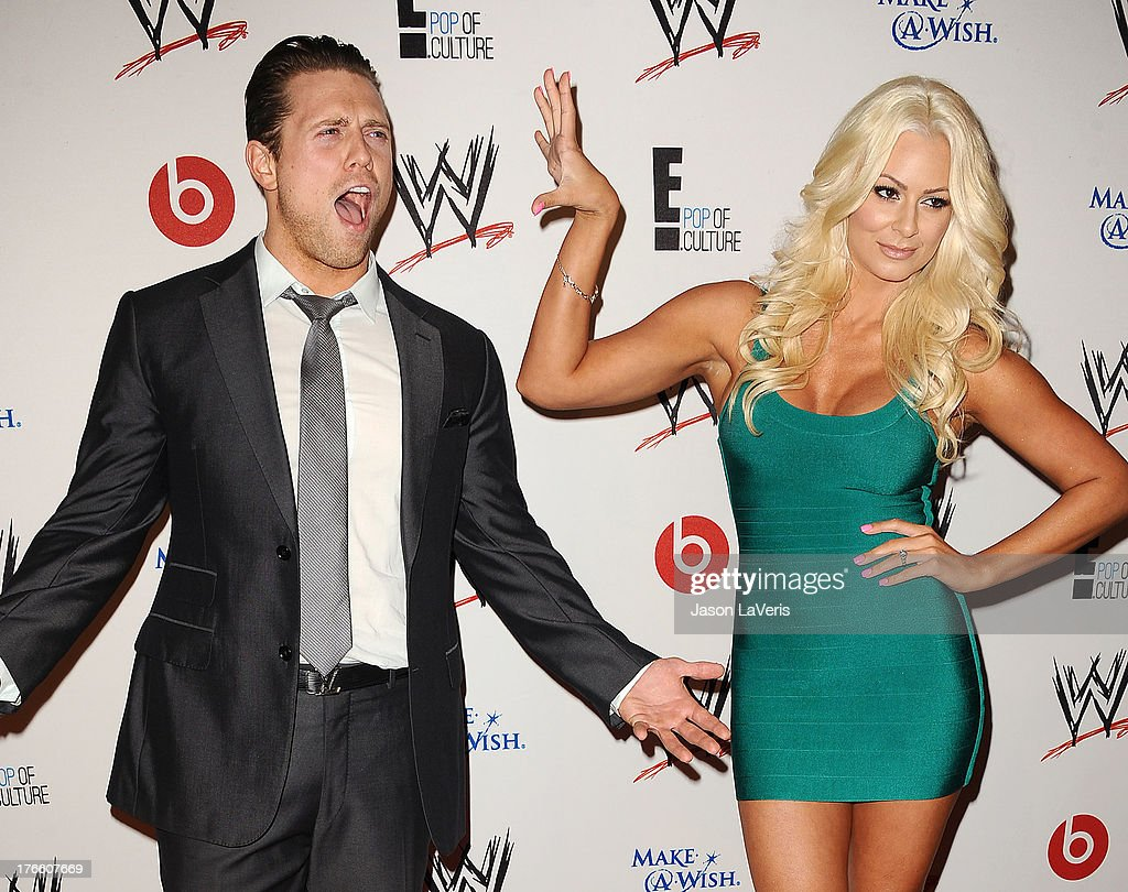 Mike 'The Miz' Mizanin and Maryse Ouellet attend the WWE SummerSlam VIP party at Beverly Hills Hotel on August 15, 2013 in Beverly Hills, California.