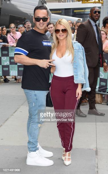 Mike 'The Situation' and Lauren Pesce are seen on August 22, 2018 in New York City.