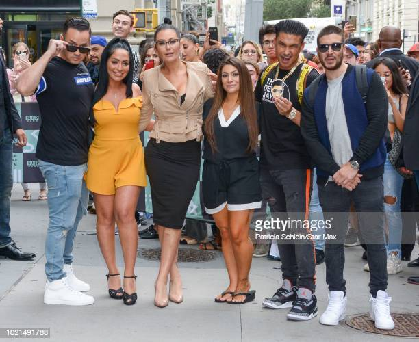 Mike 'The Situation', Angelina Pivarnick, Jenny Farley , Deena Nicole Cortese, Pauly D and Vinny Guadagnino are seen on August 22, 2018 in New York...