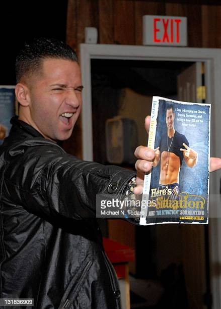 """Mike """"The Situation"""" Sorentino promotes the new book """"Here's The Situation"""" at Bookends on December 12, 2010 in Ridgewood, New Jersey."""