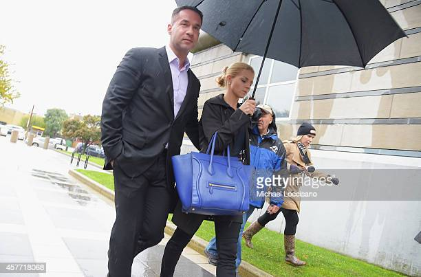 Mike The Situation Sorrentino and fiancee Lauren Pesce appear for Sorrentino's arraignment on tax fraud charges at the Martin Luther King Building...