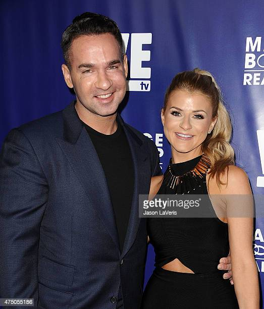 "Mike ""The Situation"" Sorrentino and Lauren Pesce attend WE tv's ""Marriage Bootcamp Reality Stars'"" premiere party at HYDE Sunset: Kitchen + Cocktails..."