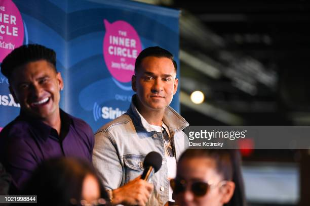 Mike 'The Situation' Sorrentino and Paul DelVecchio aka Pauly attend Jenny McCarthy's 'Inner Circle' Series On Her SiriusXM Show 'The Jenny McCarthy...