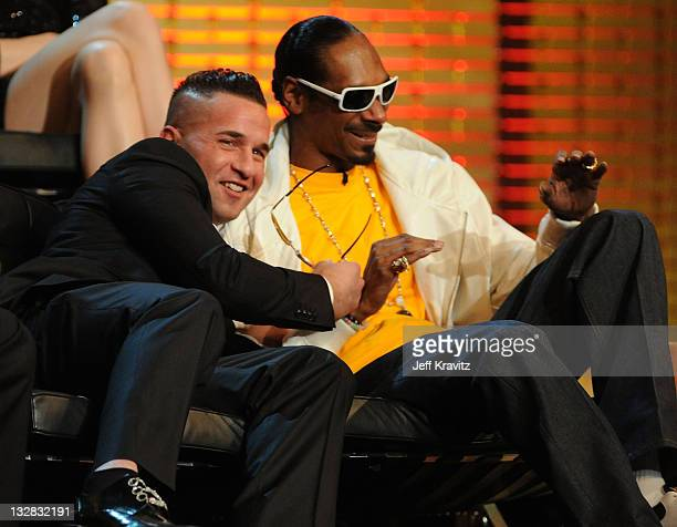 Mike The Situation Sorrentino and Snoop Dogg attend the COMEDY CENTRAL Roast of Donald Trump at the Hammerstein Ballroom on March 9 2011 in New York...