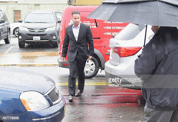 Mike 'The Situation' Sorrentino appears for his arraignment on tax fraud charges at the Martin Luther King Building and US Courthouse on October 23...
