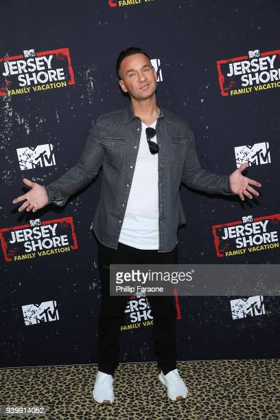 "Mike 'The Situation' Sorrentino attends the ""Jersey Shore Family Vacation"" Global Premiere at HYDE Sunset: Kitchen + Cocktails on March 29, 2018 in..."