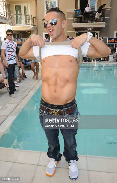 "Mike The Situation Sorrentino attends the KIIS-FM ""Now 34 And The Jersey Shore"" party at Hollywood Tower on July 11, 2010 in Los Angeles, California."