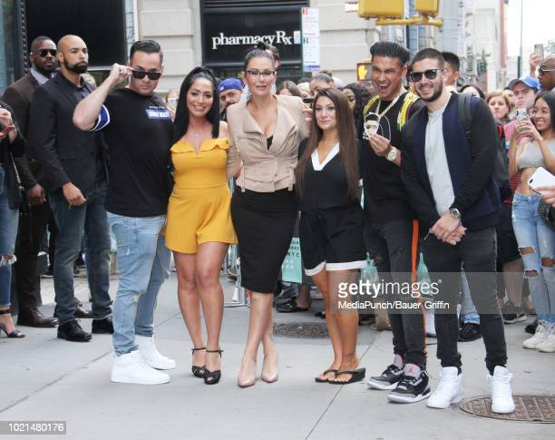 Mike 'The Situation' Sorrentino Paul DelVecchio aka Pauly D Vinny Guadagnino Jenni Farley aka JWoww Angelina Pivarnick and Deena Nicole Cortese are...