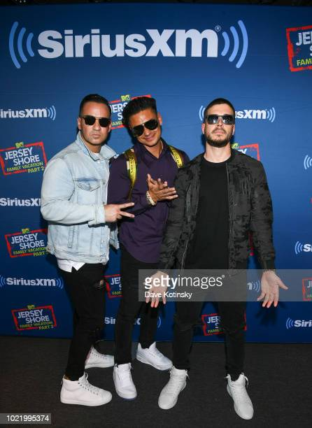 Mike 'The Situation' Sorrentino, Paul DelVecchio aka Pauly Dand Vinny Guadagnino attend Jenny McCarthy's 'Inner Circle' Series On Her SiriusXM Show...