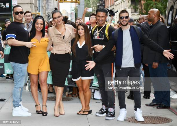 Mike 'The Situation' Sorrentino Pauly D Vinny Guadagnino JWoww Angelina Pivarnick and Deena Nicole Cortese are seen on August 22 2018 in New York City