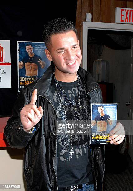 """Mike """"The Situation"""" Sorrentino promotes the new book """"Here's The Situation"""" at Bookends on December 12, 2010 in Ridgewood, New Jersey."""