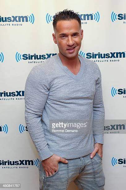 "Mike ""The Situation"" Sorrentino visits SiriusXM Studios on November 20, 2013 in New York City."