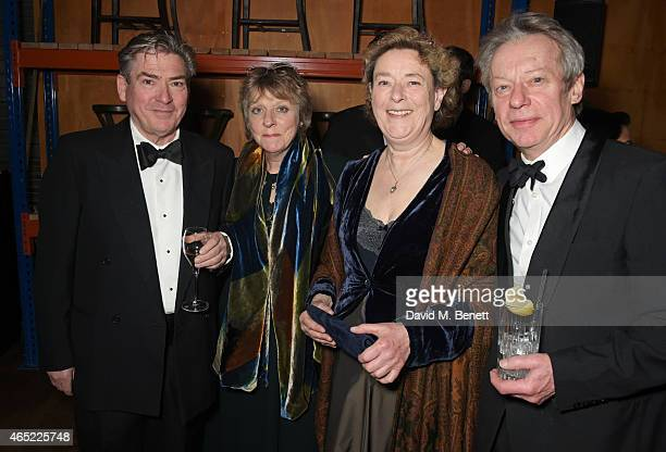 Mike Thomas Selina Cadell Linda Bassett and guest attend Fast Forward The National Theatre's fundraising gala at The National Theatre on March 4 2015...