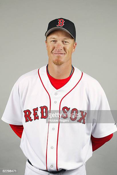 Mike Timlin of the Boston Red Sox poses for a portrait during photo day at City of Palms Park on February 26 2005 in Ft Myers Florida