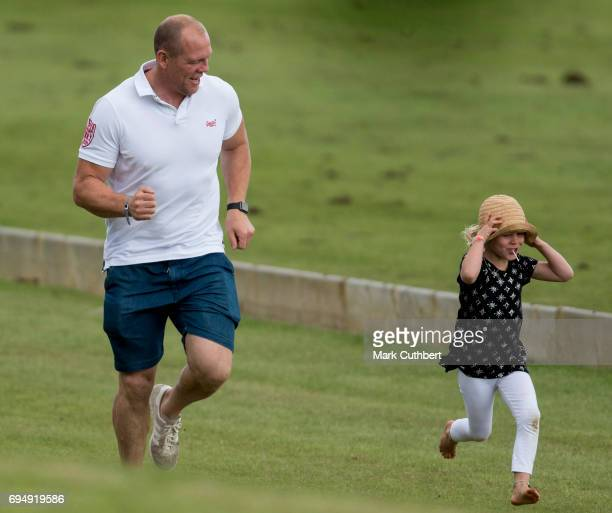 Mike Tindall and Isla Phillips at The Maserati Royal Polo Trophy match during The Gloucestershire Festival of Polo at Beaufort Polo Club on June 11...